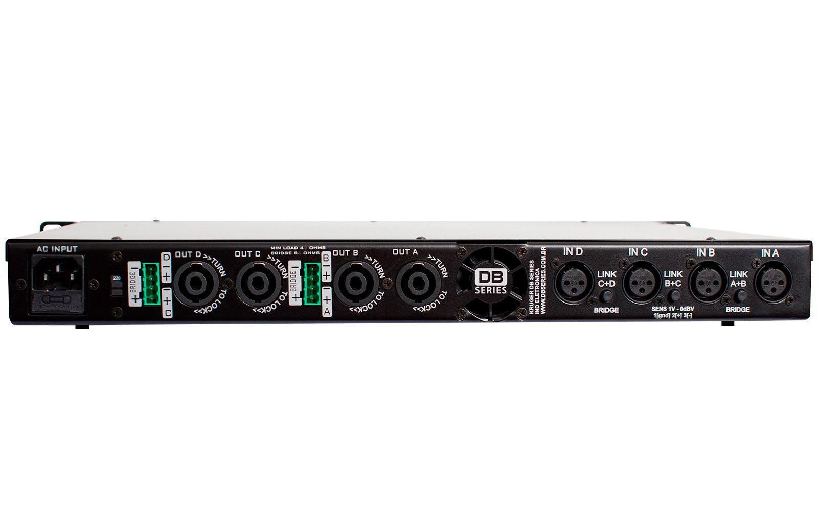 Amplificador DB Series QS 1200 Slim 1200W RMS Bivolt