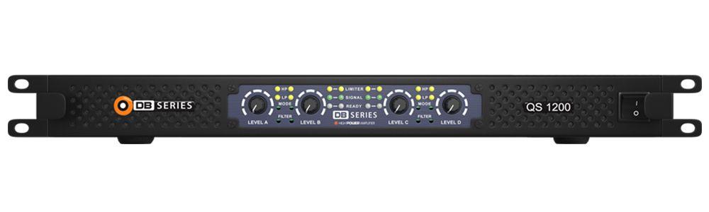 Amplificador DB Series Slim QS 1200 - 1200W RMS - Bivolt