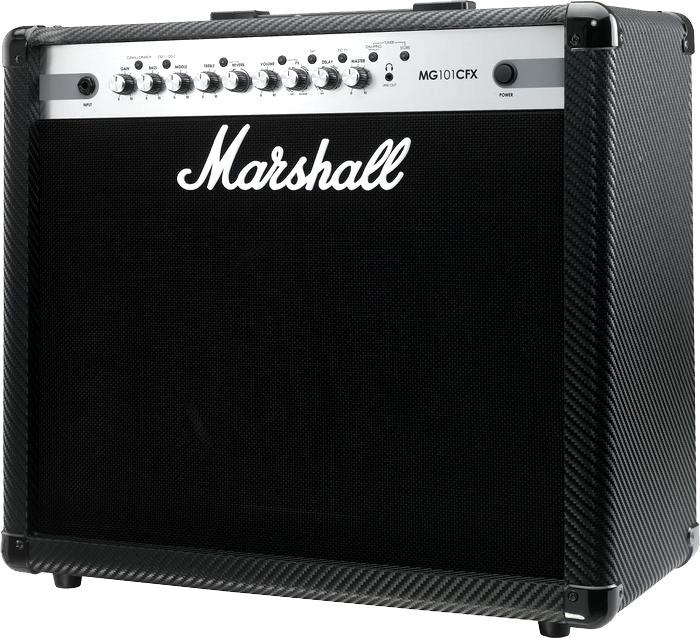 Amplificador De Guitarra Marshall Mg101cfx Carbon Mg101 Cfx Cubo