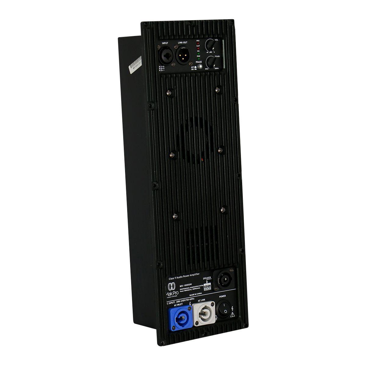 Amplificador Para Ativação De Sub Makpro 1600w Rms