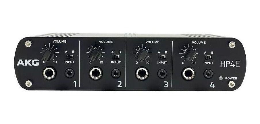 Amplificador Para Fone De Ouvido 4 Canais Akg Hp4e