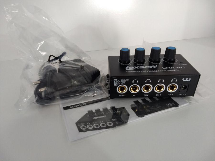 Amplificador Para Fones De Ouvido Lha-4c Portátil Lexsen
