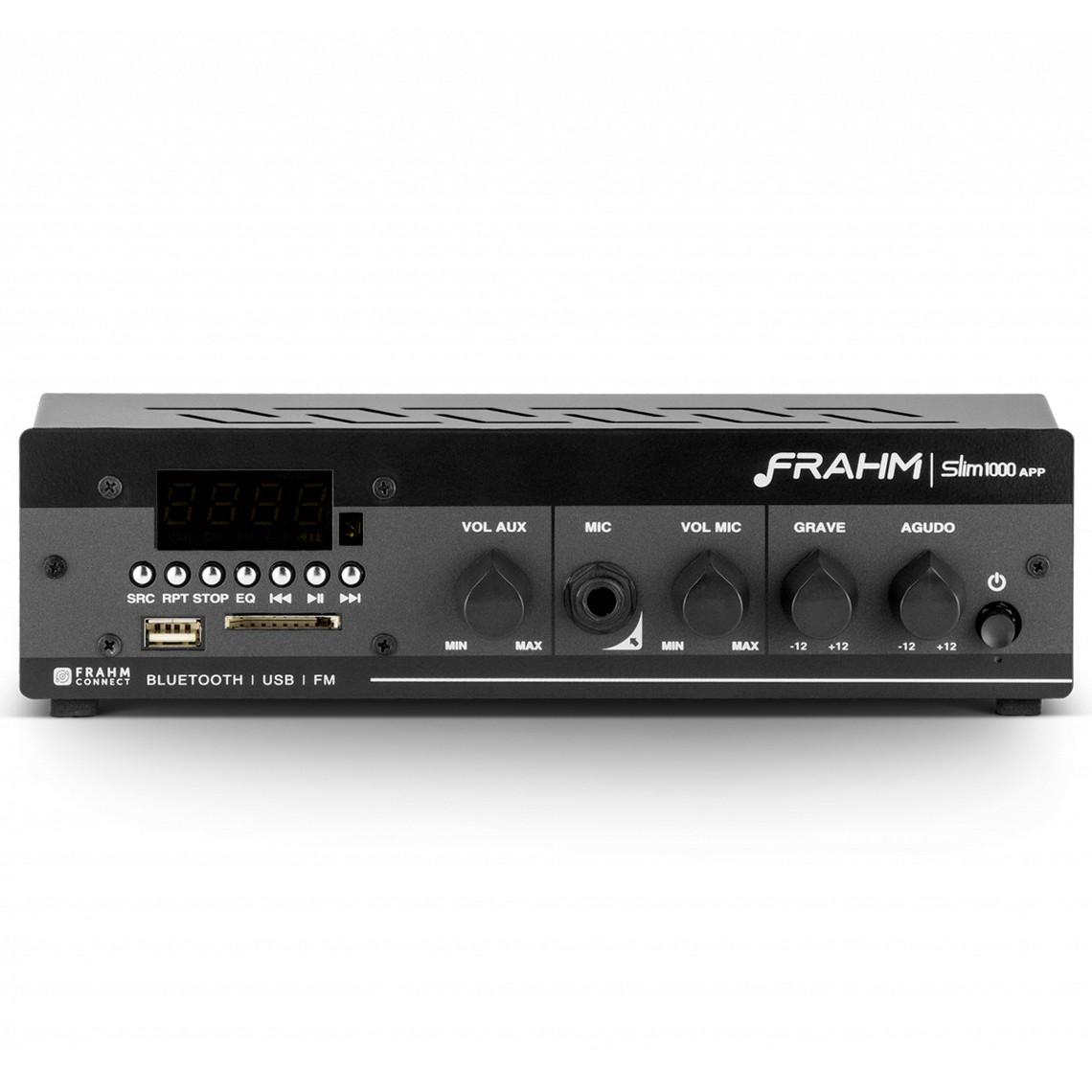 Amplificador Receiver Frahm SLIM 1000 APP Bluetooth 40W G2