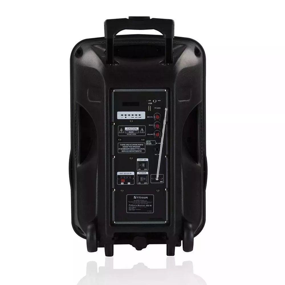 Caixa De Som Frahm Cm600bt 600w Bluetooth Fm Usb Sd Card
