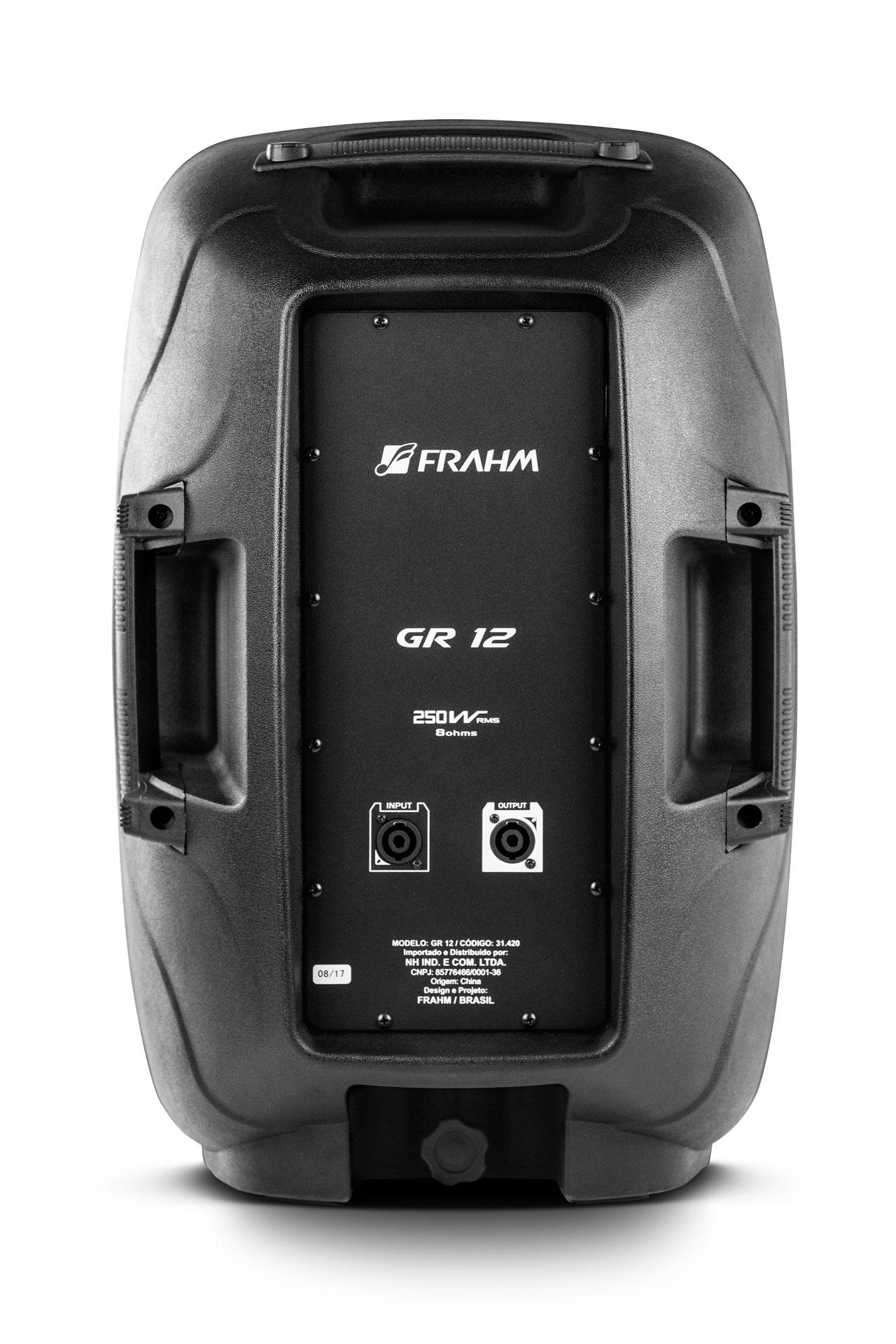 Caixa Som Acústica Amplificada Gr12 Passiva Frahm