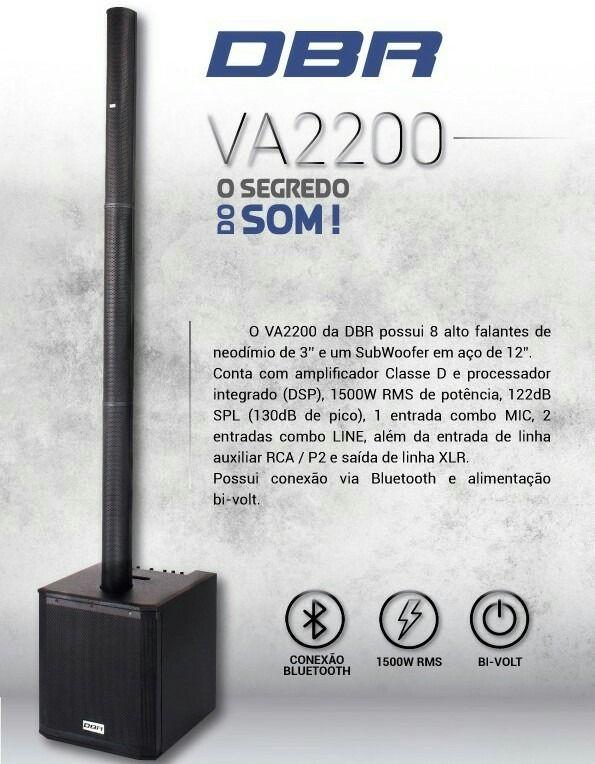 Sistema de Som Profissional Vertical Array DBR - VA2200 1500W