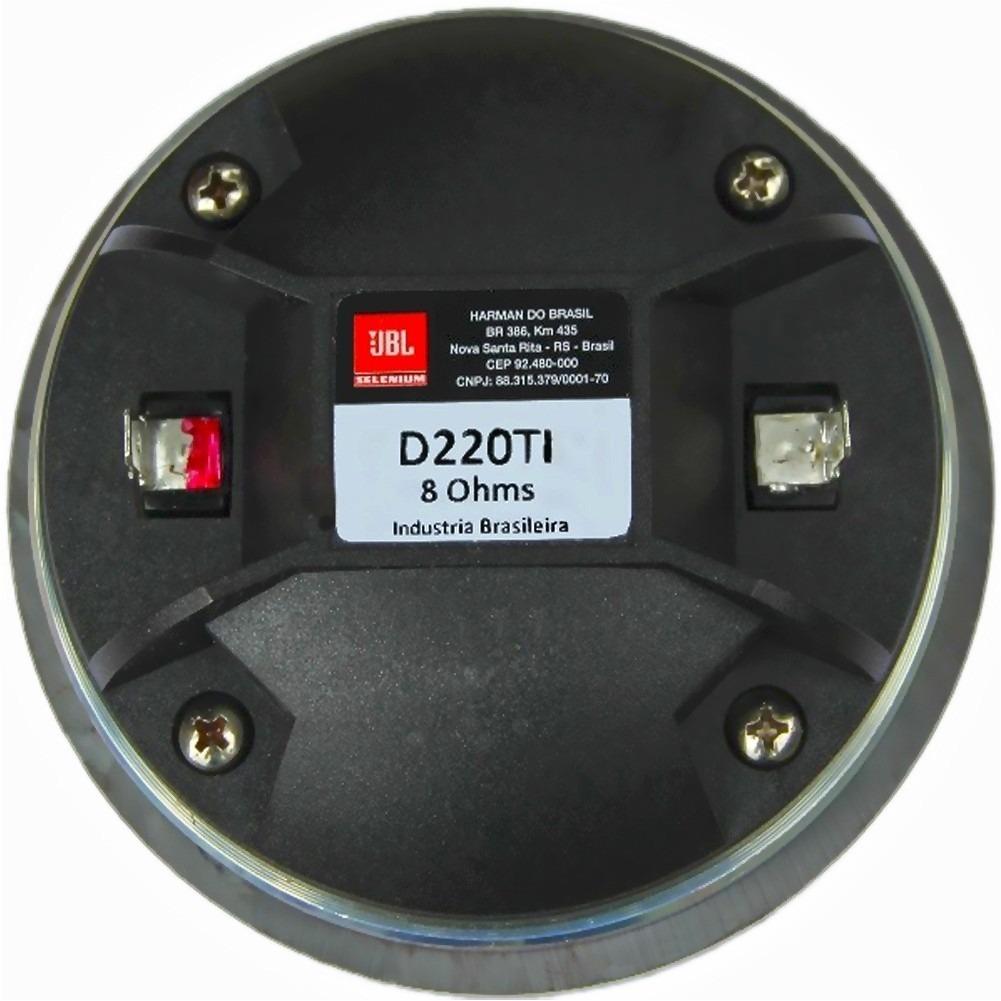 Driver JBL Selenium D220Ti - 80W RMS 8 Ohms - Diafragma Titânio