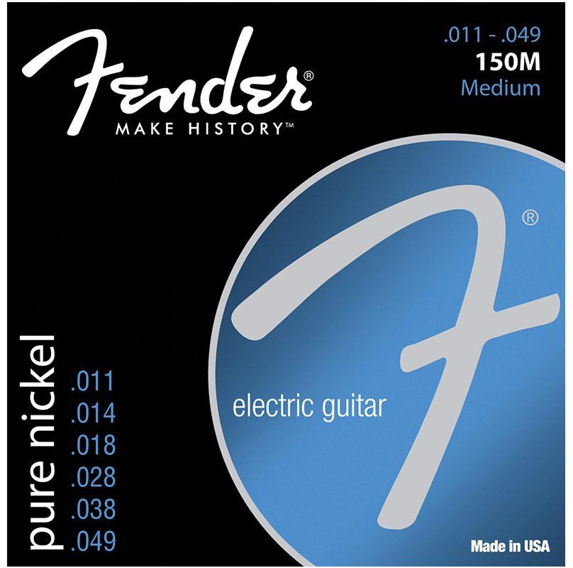 Encordoamento Fender 150M Pure Nickel 11-49 - Cordas para Guitarra