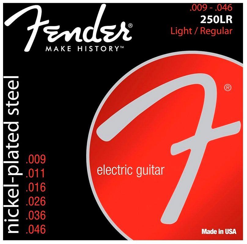 Encordoamento Fender 250LR Nickel-Plated Steel 09-46 - Cordas para Guitarra