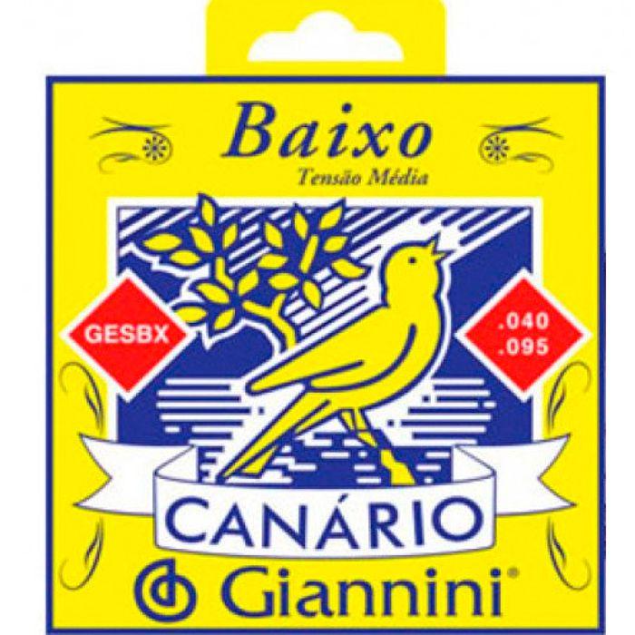 Encordoamento para Contrabaixo 4 Cordas .040 GESBX Giannini