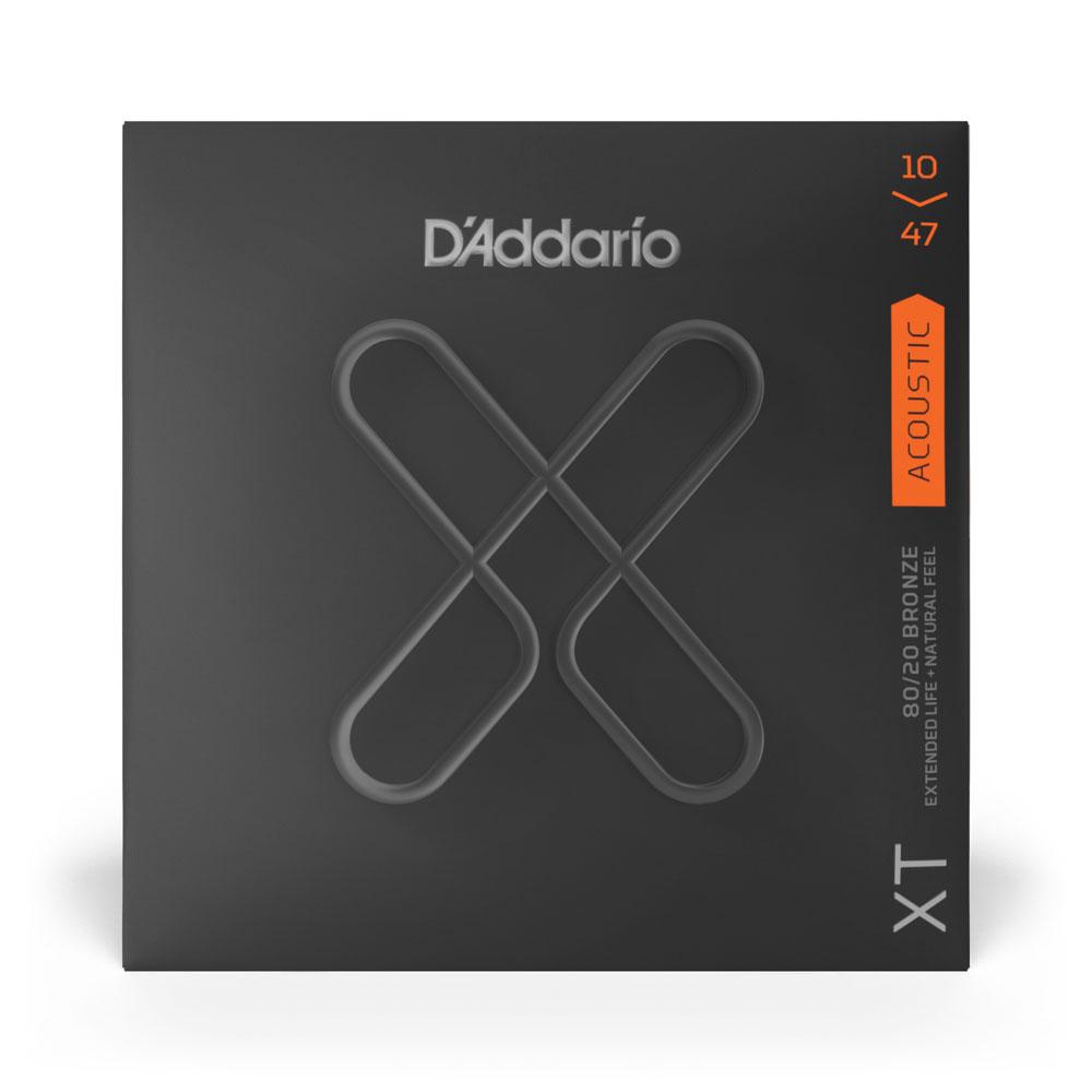Encordoamento Para Violão Aço Revestida Bronze 80/20 .010 -.047 D'Addario XT XTABR1047