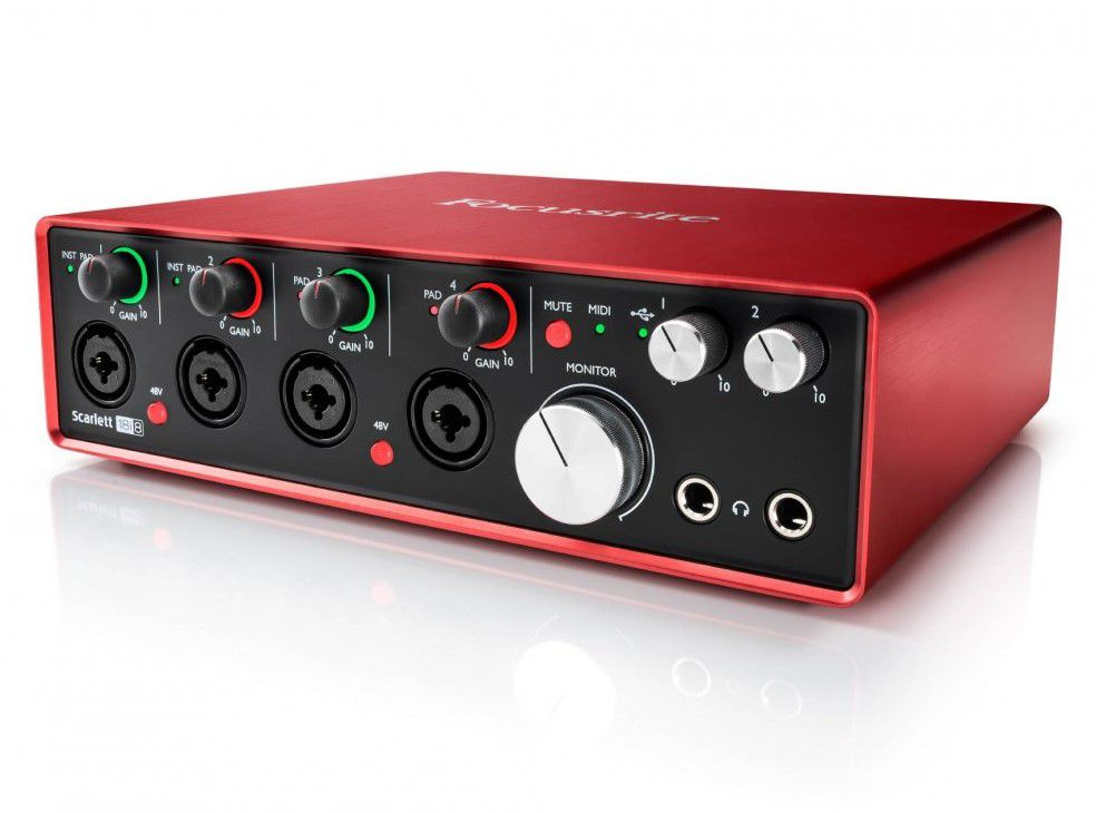Interface de Áudio Focusrite Scarlett 18i8 (2nd Gen)
