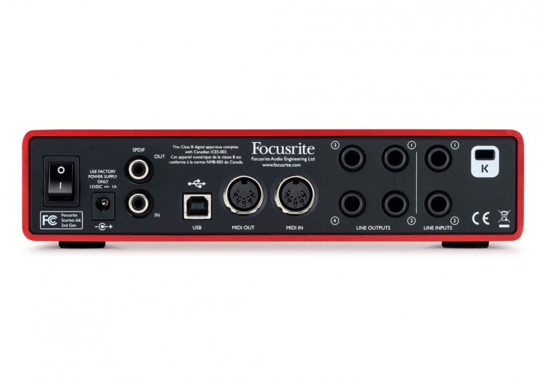 Interface de Áudio Focusrite Scarlett 6i6 (2nd Gen)