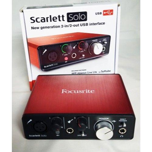 Interface de Áudio Focusrite Scarlett Solo (2nd Gen)