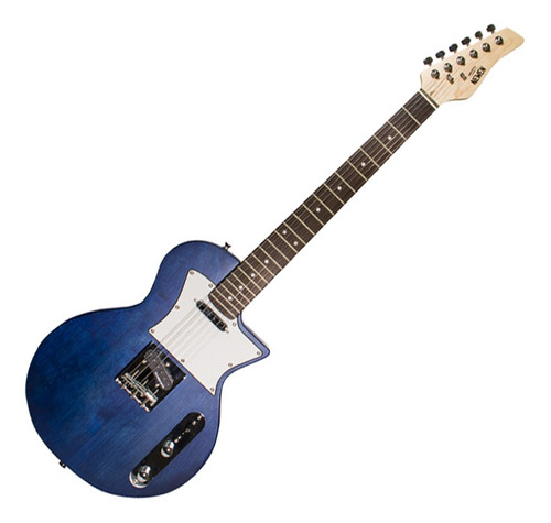 Guitarra Les Paul Newen Frizz Blue Wood Azul