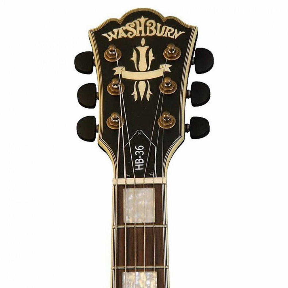 Guitarra Washburn HB36 Semi-acústica Vintage Com Case