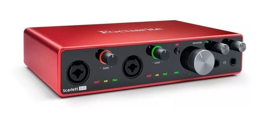 Interface de Áudio Focusrite Scarlett 8i6 Usb 3 Ger