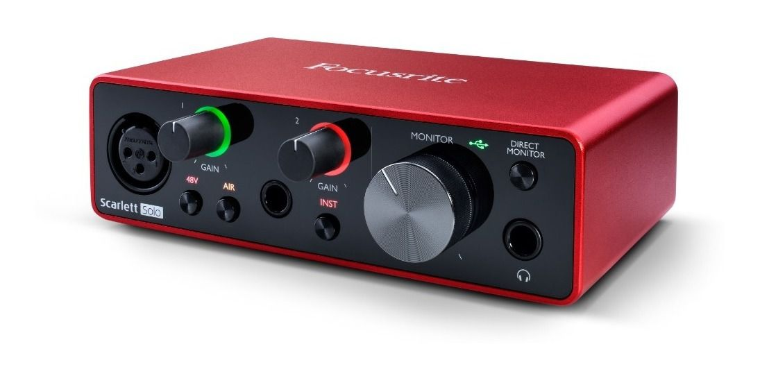Interface de Áudio Focusrite Scarlett Solo (3nd Gen)