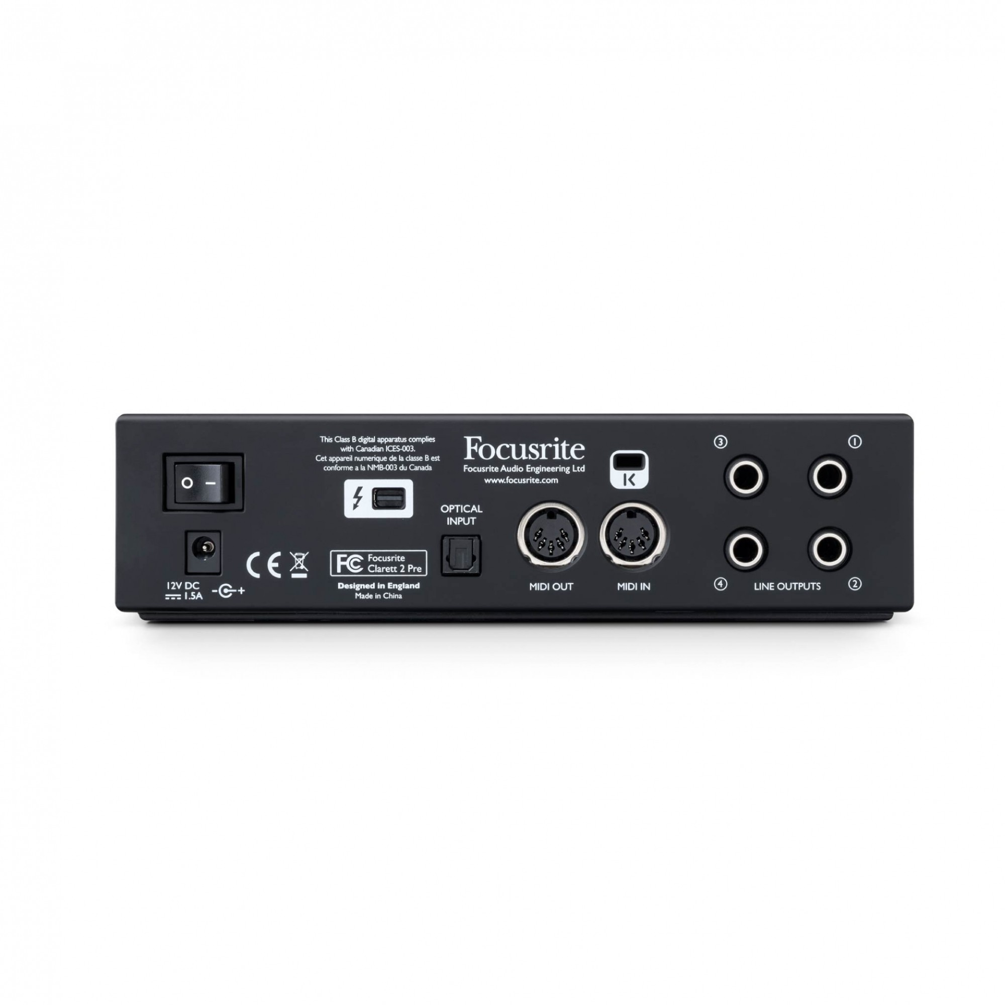 Interface de Áudio Thunderbolt Clarett 2PRE 10/4 Focusrite
