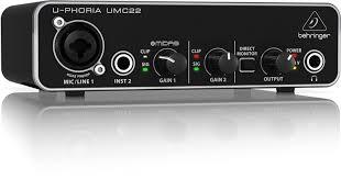 Interface De Áudio U-phoria Umc22 Behringer