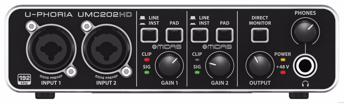Interface De Áudio Usb Behringer UMC202HD