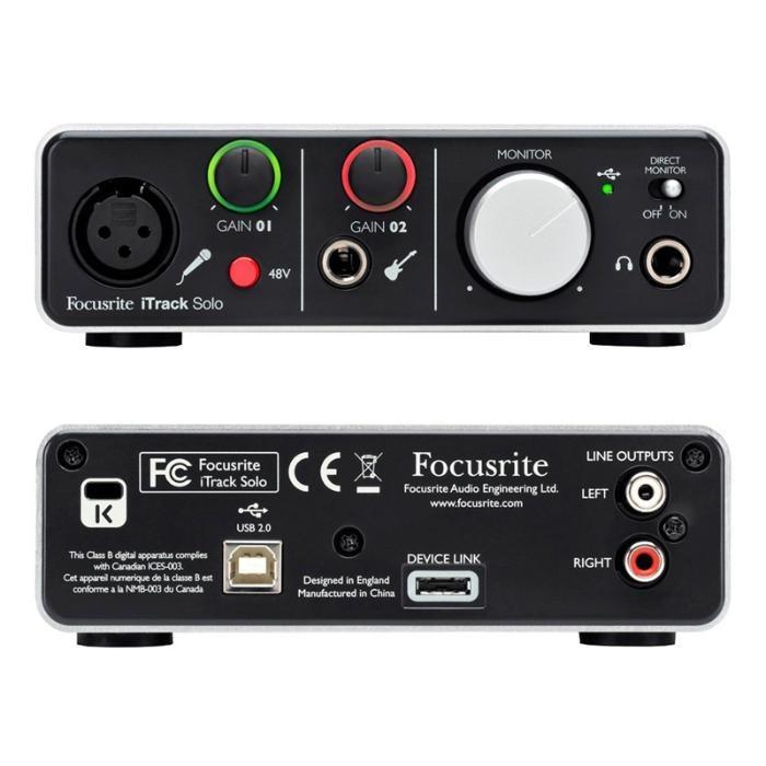 Interface De Áudio Usb Para IPhone e iPad Focusrite iTrack Solo