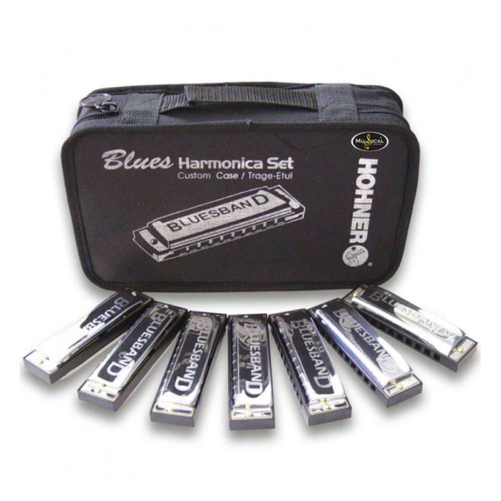 Kit Blues C/7 Harmônicas (C, D, E, F, G, A, BB) - Hohner