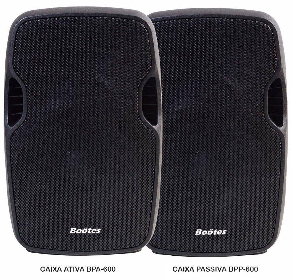 Kit Caixa de Som Ativa + Passiva BP-600 Bootes  - 600w Rms