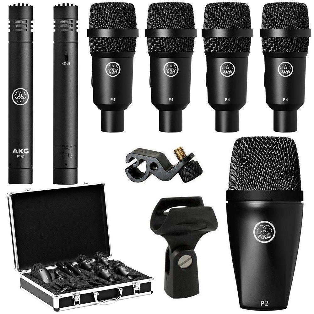 Kit De Microfones P/ Bateria Akg Drum Set Session 1