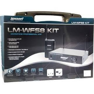 Microfone sem Fio Headset e Lapela Lexsen LM-WF58 KIT