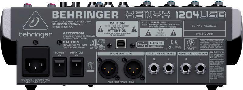 Mesa Behringer Xenyx 1204 USB Bivolt