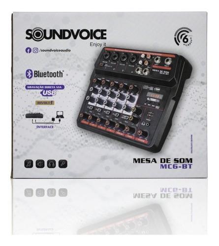 Mesa de Som Compacta Soundvoice MC6 Bt