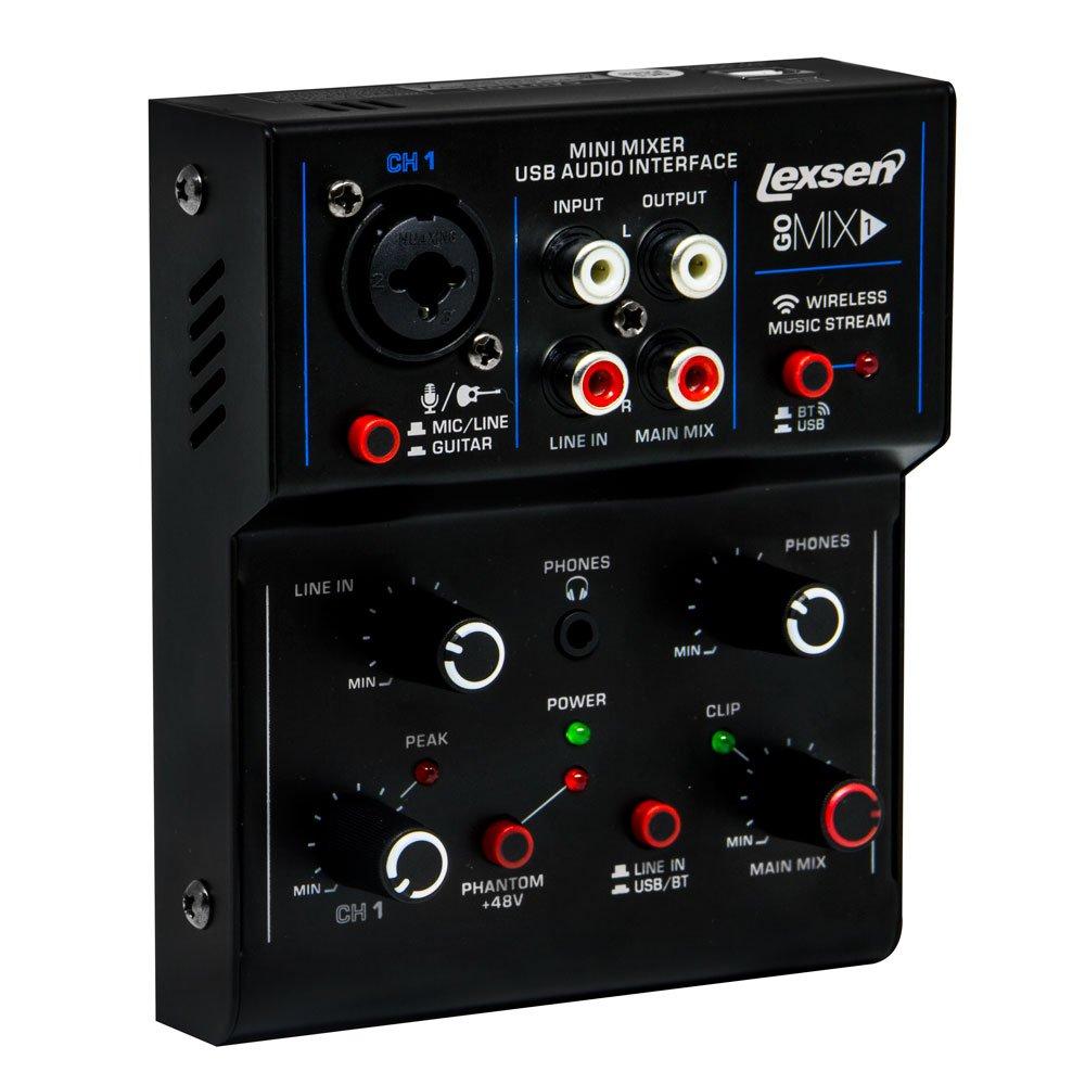 Mesa de Som Go Mix 1 Lexsen 1 Canal com Interface de Áudio