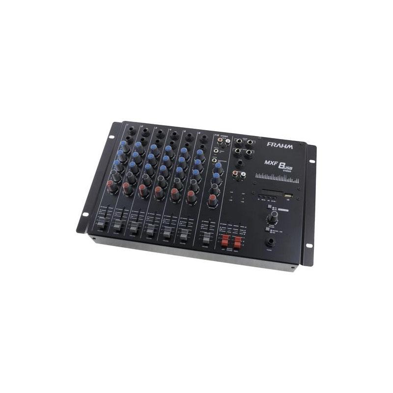 Mesa de Som Mixer 8 Canais MXF8 com USB Frahm Bivolt