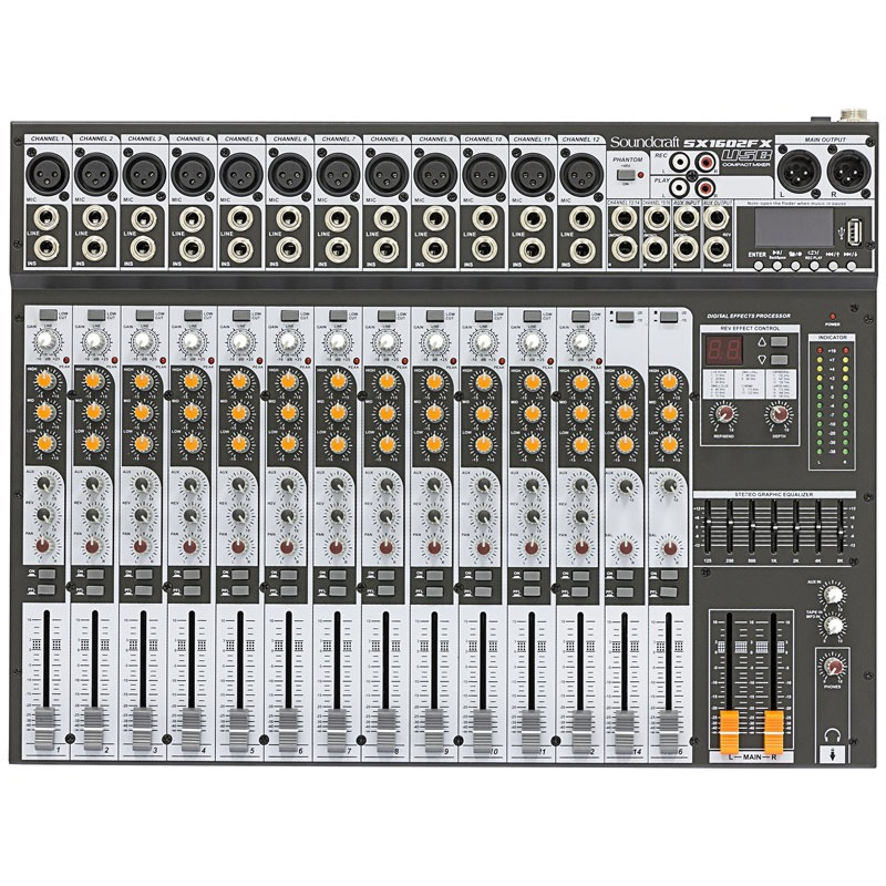 Mesa de Som Soundcraft Sx1602 Fx Usb