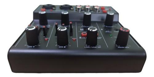 Mesa de Som Analógica Stream Mix 2 USB Lexsen - Interface de Áudio e Bluetooth