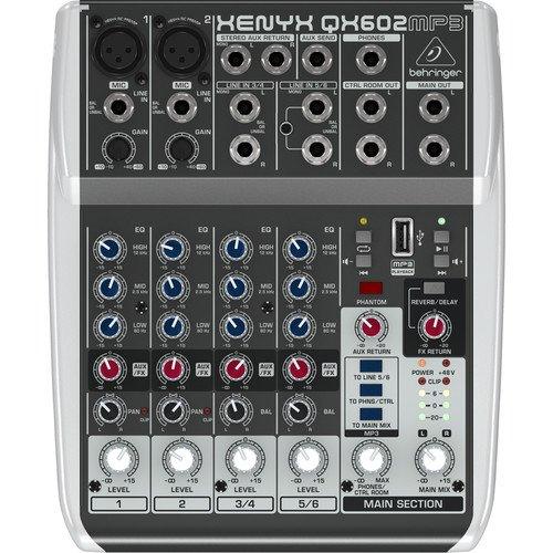 Mesa de Som Xenyx QX602MP3 Behringer