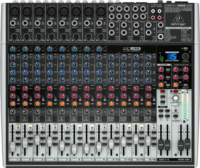 Mesa de Som Xenyx X2222USB Behringer - Mixer Bivolt