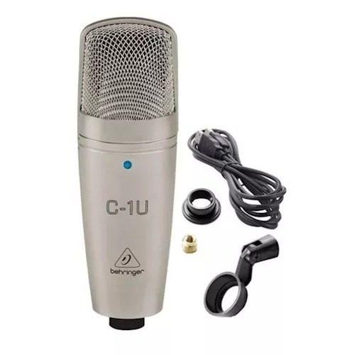 Microfone Condensador Behringer C-1u - Usb Estúdio