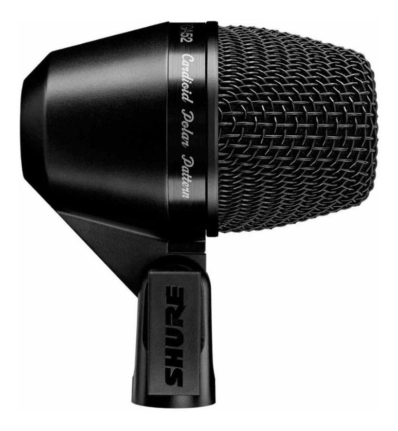 Microfone Dinâmico Para Bumbo Shure PGA52 Lc