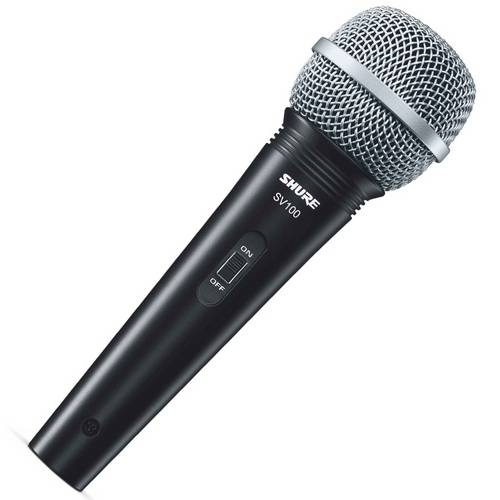 Microfone Dinâmico SV100 Shure Com Cabo