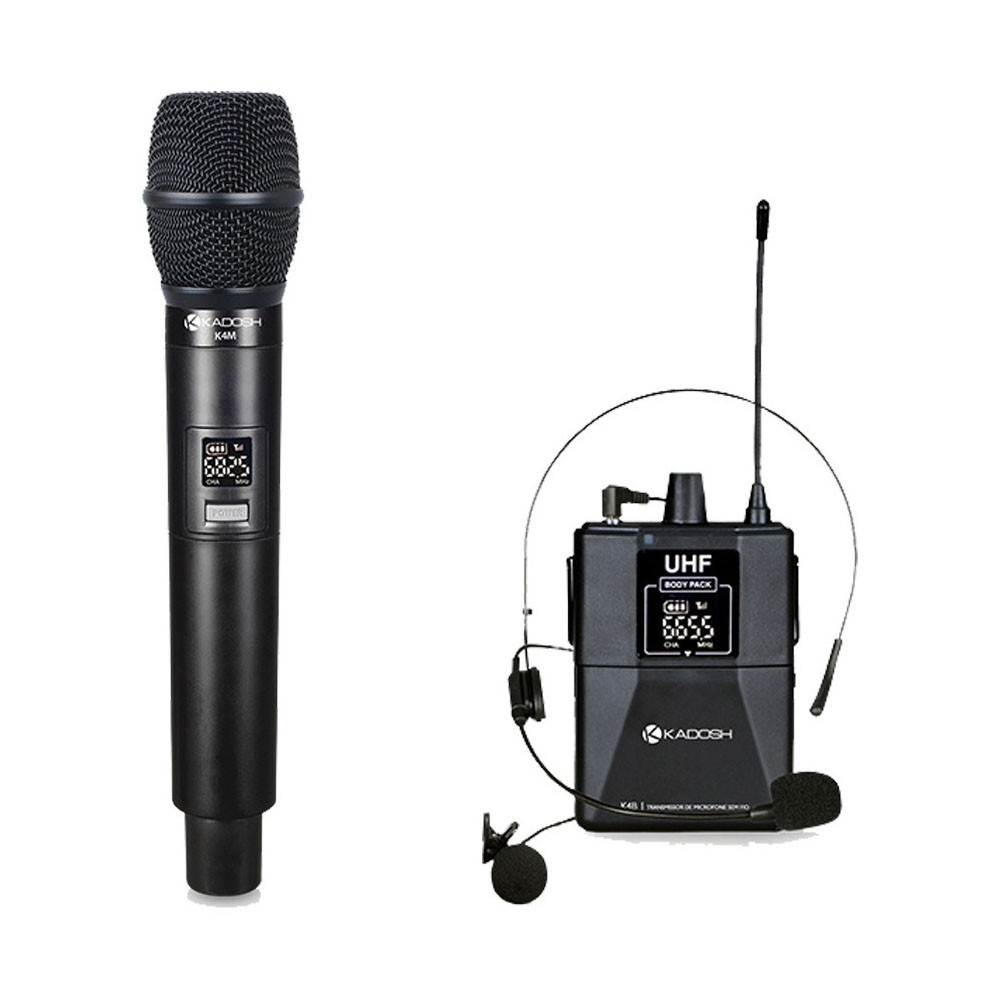Microfone Kadosh KDSW 402C Sem Fio Bivolt