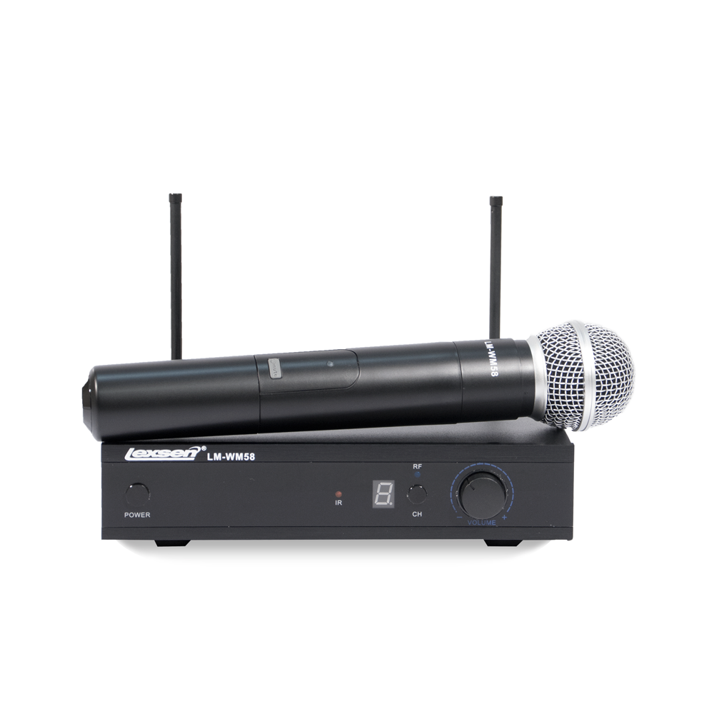 Microfone - LM-WM58 - Lexsen Sem Fio Bivolt