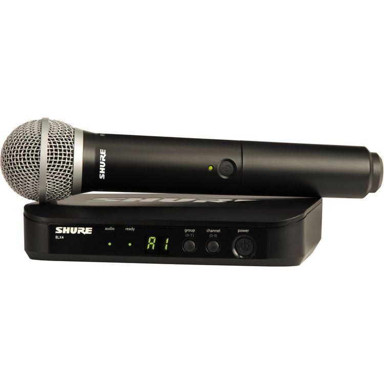 Microfone Sem Fio De Mão Blx 24br Pg58 Shure