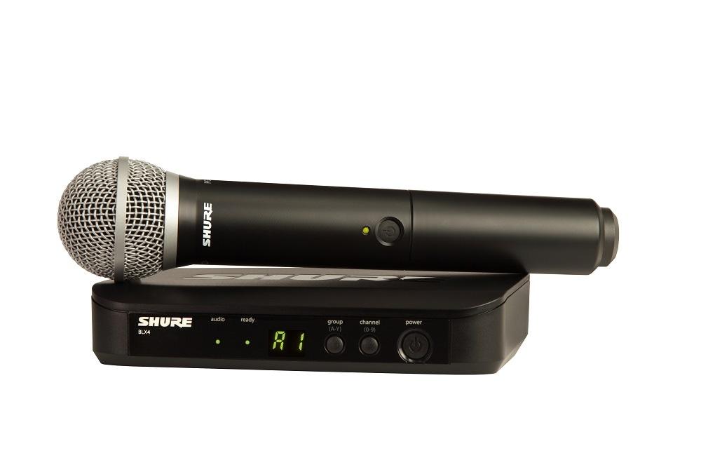 Microfone Shure BLX24BR/PG58-M15 Sem Fio PG58 para Vocais