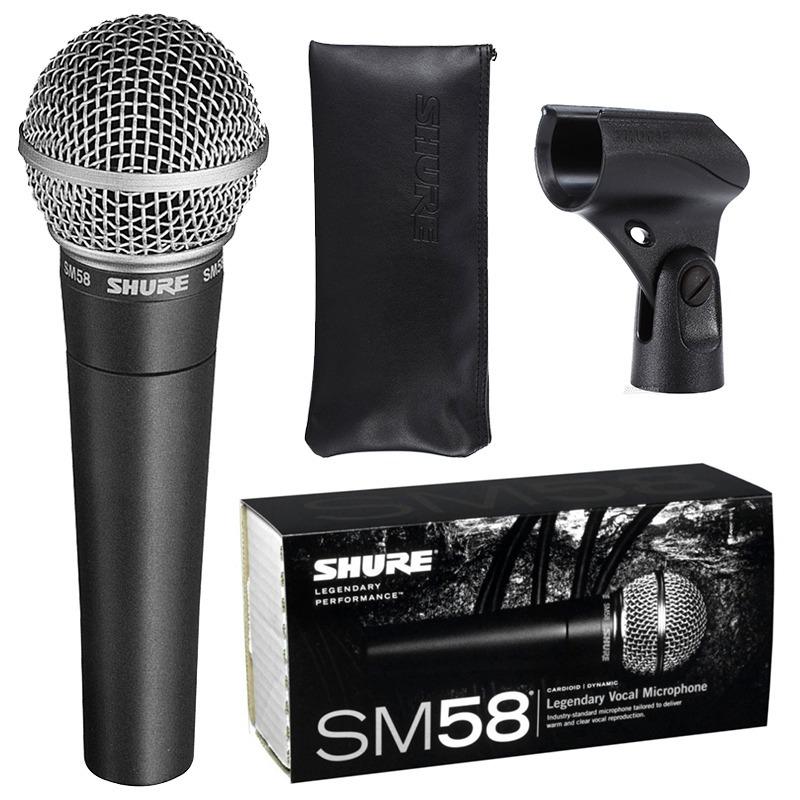 Microfone Shure SM58 - LC Dinâmico