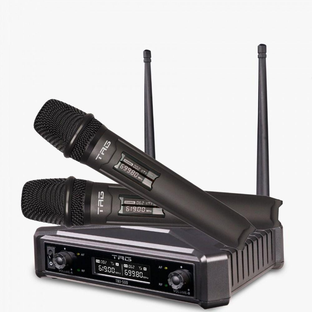 Microfone Sem Fio Duplo Tag TMJ-500 - UHF