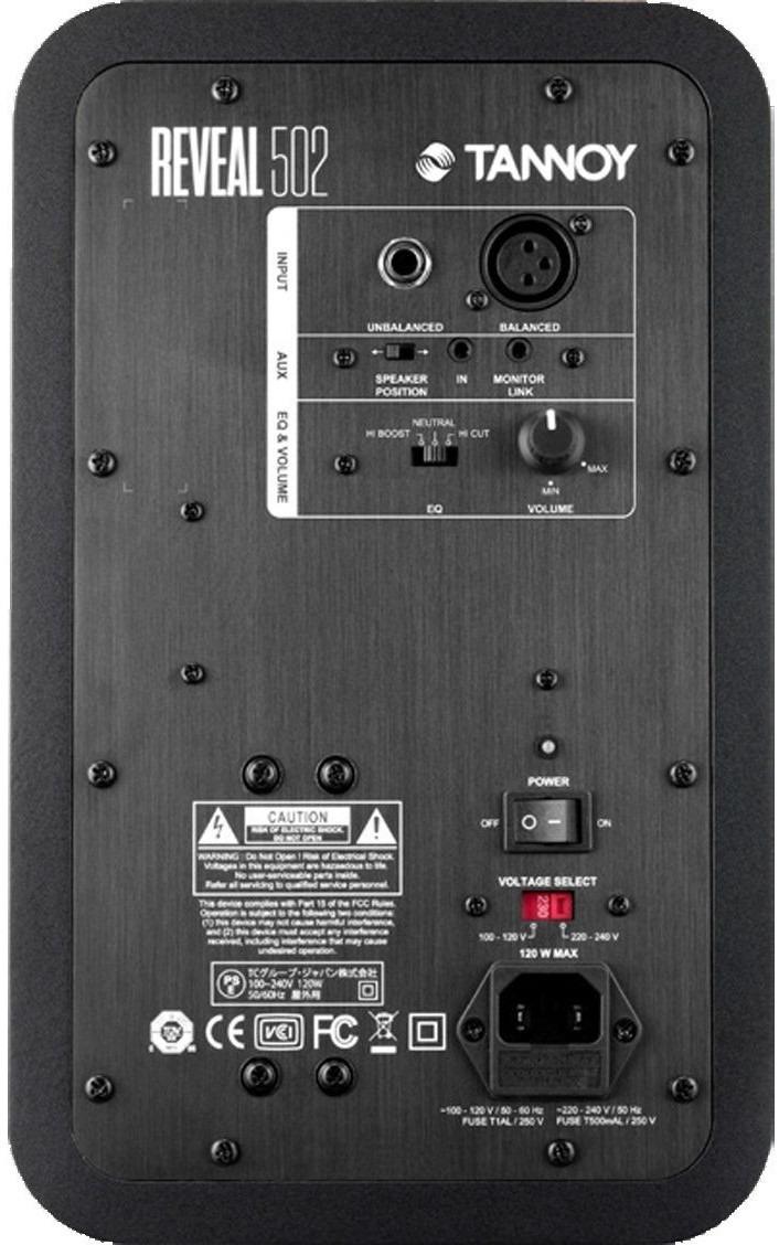 Monitor De Áudio Tannoy Reveal 502 1x5 75w Rms Bivolt