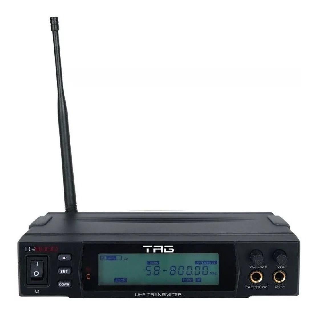 Monitor Sem Fio Tag TG-9000 Digital 660 - 690Mhz Bivolt