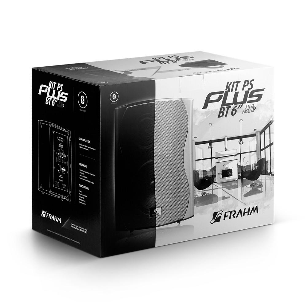 Par Caixas Som Ativa + Passiva Frahm Ps Plus Bt-6 Bluetooth Branca